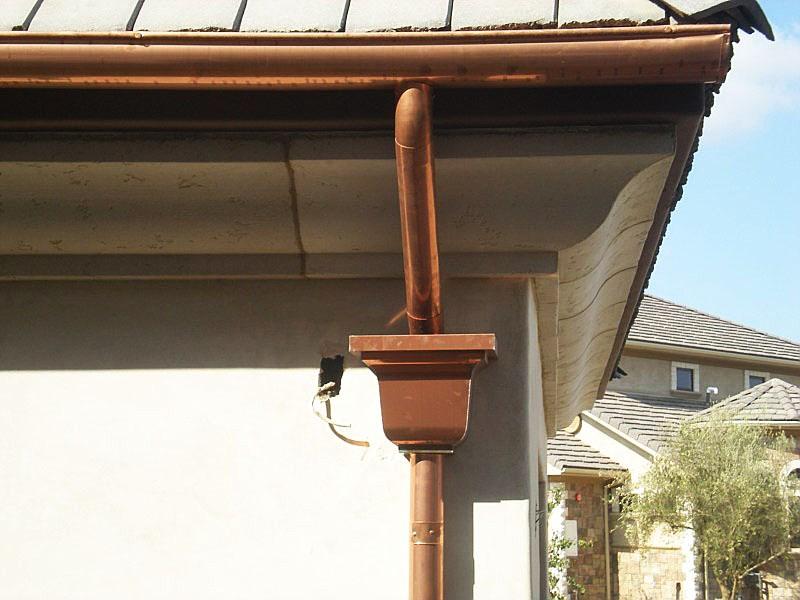 Copper Gutters Guttering System Orange Laguna Beach Ca